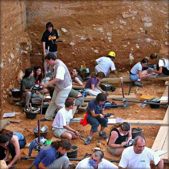 Excavacion en Atapuerca