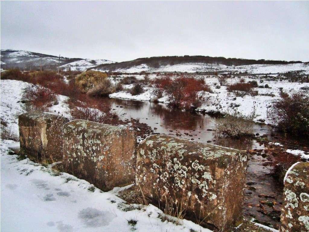 Rio Seco a su paso por Palazuelos en Invierno